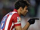 POHODIČKA. Diego Costa z Atlética Madrid oslavuje gól, jenž vstřelil na hřišti...