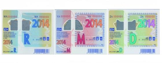 Dálniční známky na rok 2014