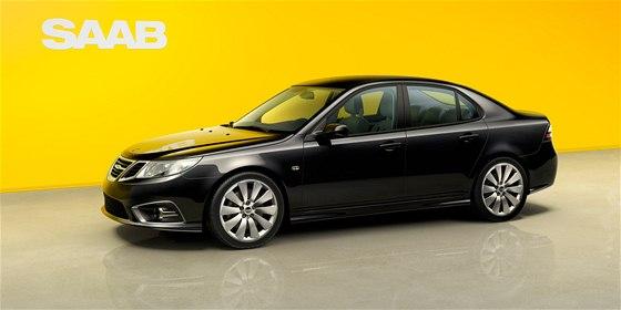 První novodobý Saab 9-3 je černý a má dvoulitrový turbobenzinový motor s...