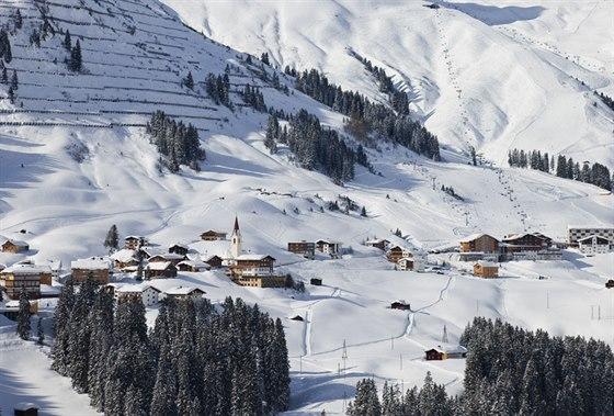 Vorarlberg Warth Schr�cken se propojil s Lech Z�rs Dietmar Walser.