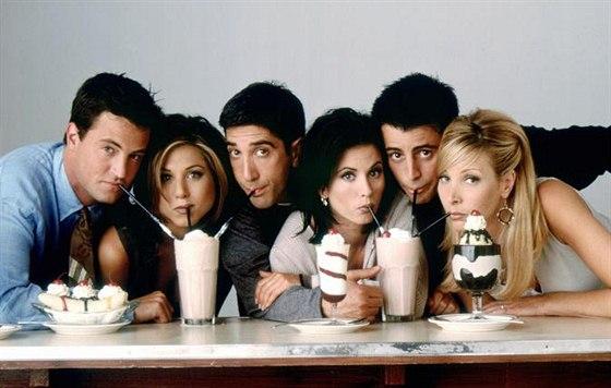 Matthew Perry, Jennifer Anistonová, David Schwimmer, Courteney Coxová, Matt...