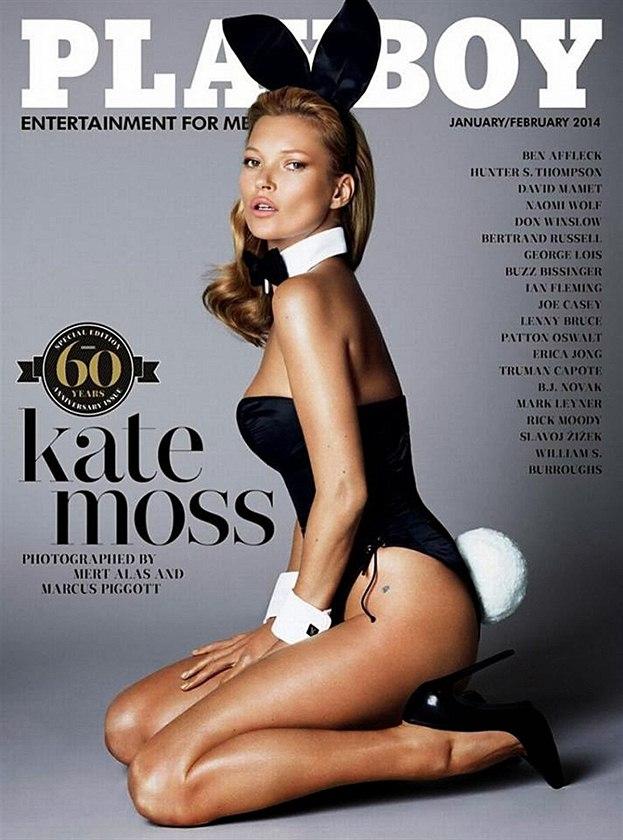 Kate Mossov� na ob�lce �asopisu Playboy