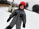 V Němčičkách, kde je nejníže položený lyžařský svah ve střední Evropě, ...