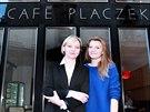 Café Placzek, Brno - Jiřina Plačková s dcerou