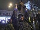 Na protivládní demonstraci v centru Kyjeva se sešly statisíce lidí. Akci...
