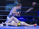 Pardubický Michal Gruber (v bílých trenýrkách) boxoval proti Pražanu Lukáši...