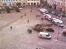 Poryvy větru v Moravské Třebové vyčistily náměstí a doplatil na ně i vánoční...