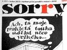 Titulní strana časopisu Sorry (leden 2013)