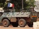 Francouzští vojáci  v Bangui.