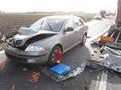 Hned tři auta se srazila v pátek dopoledne v obci Libivá směrem na Mohelnici.