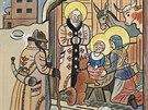 Svatou noc z roku 1933 maloval Lada tuší a akvarelem.