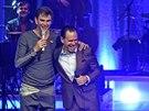 Kurt Elling a Vojt�ch Dyk zah�jili spole�n� turn� 3. prosince 2013 v brn�nsk�m Mahenov� divadle.