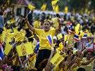 Oslavy narozenin krále přerušily thajské nepokoje. Oslav se zúčastnili tisíce...