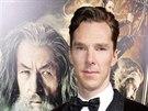 Benedict Cumberbatch na premiéře filmu Hobit: Šmakova dračí poušť v Los Angeles...