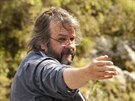 Režisér Peter Jackson během natáčení filmu Hobit: Šmakova dračí poušť