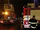 Spadlý strom přerušil tramvajový provoz na pražském Výstavišti. (5. prosince...