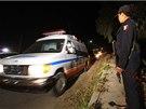 Policista u mexické vesnice Hueypoxtla, kde zloději tento týden nechali