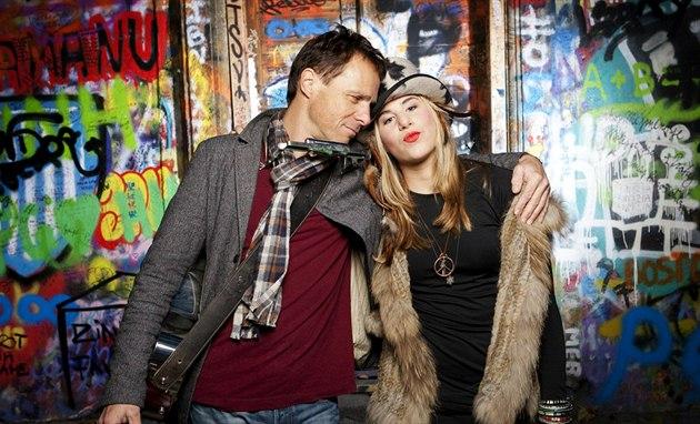 Janek Ledecký a jeho dcera Ester