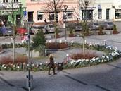 To je on. Obří adventní věnec na hlučínském náměstí má v průměru patnáct metrů.