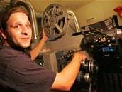 Promítací kabina v karlovarském kině Čas.