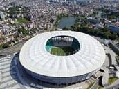 SALVADOR Arena Fonte Nova stadium ve m�st� Salvador.