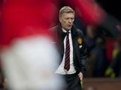 TRPKÝ VEČER. Trenérovi Manchesteru United Davidu Moyesovi se v novém působišti