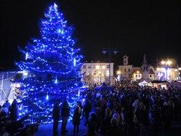 Vánoční strom v Kladně