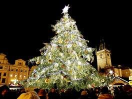 Vánoční strom v Praze.