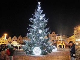 Plzeňský vánoční strom.