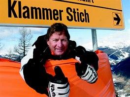 Franz Klammer na sv� sjezdovce v Bad Kleinkirchheimu