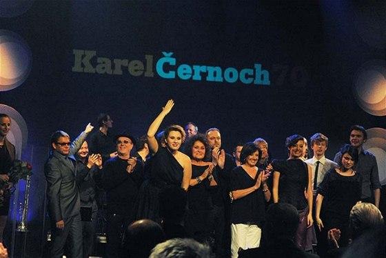 Účastníci koncertu k sedmdesátinám Karla Černocha