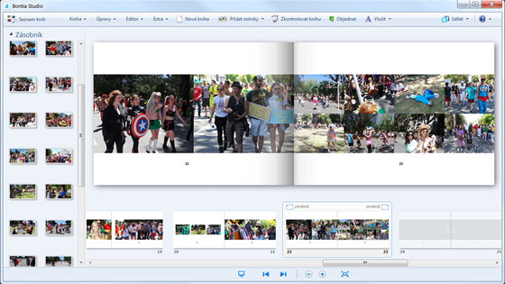 Bylo docela náročné umístit více fotek na stránku. Vlastně ne náročné, ale...