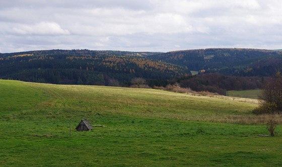 Šošůvská planina se studánkou Na Troubkách