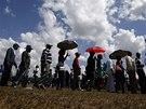 Truchlící v Pretorii čekají ve frontě, aby se mohli poklonit u rakve bývalého