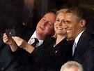 Americký prezident Barack Obama, britský premiér David Cameron a dánská...