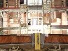 Pohled z dálky. Kostel Nanebevzetí Panny Marie v Brně
