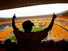 Jihoafričané na velkolepé vzpomínkové akci na počest Nelsona Mandely na