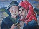 Jeden z napodobených obrazů valašských malířů. (19. prosince 2013)
