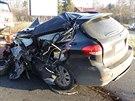Řidič SUV Subaru, který vjel do protisměru, neměl šanci na přežití. (19....