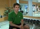 Hokejista Pavel Zacha líčí, jak trénuje.