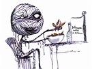 Tim Burton: ilustrace ke knize Ústřičkova smutná smrt a jiné příběhy