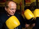 Úspěšný boxer a trenér František Patočka z hradecké Sportovní školy boxu.