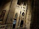 Nové osvětlení Svatovítské katedrály ukázalo mnoho doposud skrytých detailů.