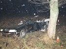 Octavia nabourala do stromu u Hradce Králové, auto se nárazem rozpůlilo,...