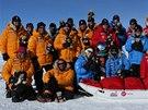 Účastníci výpravy na Jižní pól ušli více než 300 kilometrů společně, původně...