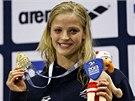 EVROPSKÉ ZLATO. Simona Baumrtová doplavala jako první ve znakařském závodu na 50 metrů.