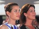 Charlotte Casiraghi a její matka, monacká princezna Caroline