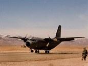 Letoun G.222 (C-27A Spartan) v Afghánistánu. Několik strojů získali Afghánci od...