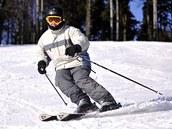 V lyžařském areálu Červená Voda v Orlických horách, kde musela být o víkendu
