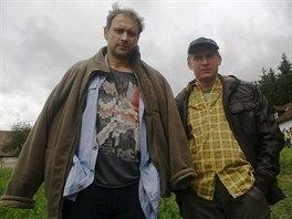 René Šmotek (vpravo) s Igorem Chmelou při práci na seriálu Kozy léčí.